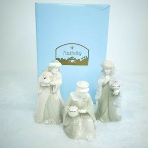 Porcelain Nativity Wise Men Figurine Set